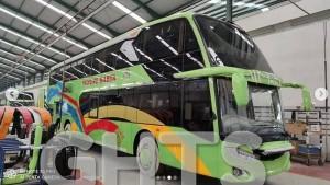 Akhirnya PO Gunung Harta Hadirkan Bus Tingkat