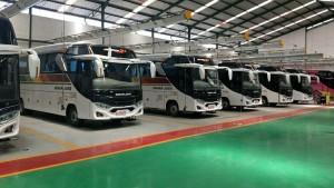 Bus Baru PO Sinar Jaya, Pakai Jetbus 3+ Medium Bermesin Mercy