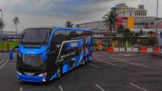 Bus Antar Kota Double Decker Pertama di Pulau Sulawesi Resmi Beroperasi