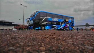 Fasilitas Wah di Bus Double Decker Pertama di Pulau Sulawesi Milik PO Primadona