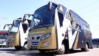 Simak Medium Bus Dewa United FC Buatan Delima Jaya