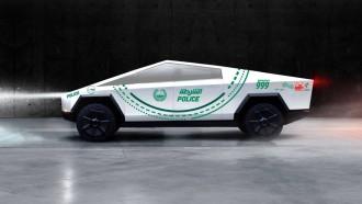 Tesla Cybertruck Jadi Mobil Polisi Dubai