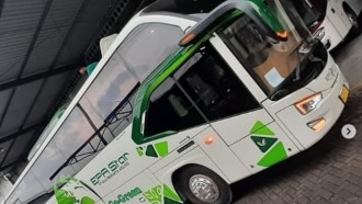 Bus EPA Star Rute Palembang-Bandung, Punya Kelas Social Distancing