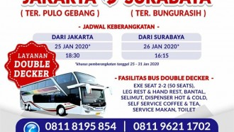 Sinar Jaya Operasikan Bus Tingkat Jakarta - Surabaya