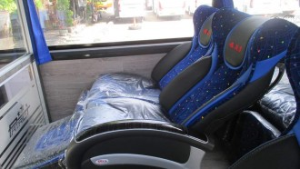 Mencoba Langsung Jok Tebal Bus Baru PO ANS, Senyaman Apa?