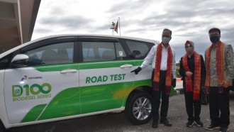 Pertamina Sukses Tes Jalan BBM Berkandungan Nabati Diesel D-100