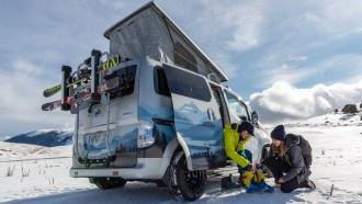 Unik, Nissan Evalia Berpenggerak Listrik Jadi Campervan Musim Dingin