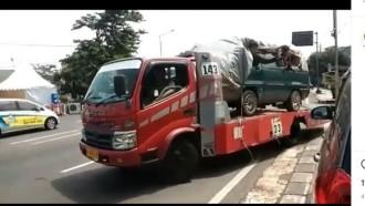 Ndableg… Dilarang Pakai Bus, Gunakan Truk Towing Untuk Mudik