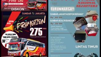 Perang Tarif Bus Jakarta-Padang, Ini Daftar Harganya