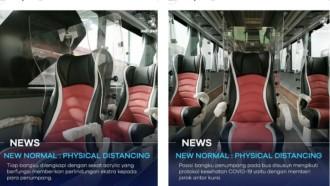 Adi Putro Kembangkan Bus Social Distancing Bersekat