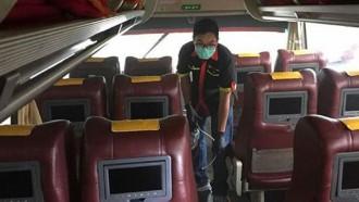 Bus Putera Mulya Lakukan Antisipasi Penyebaran Virus Corona