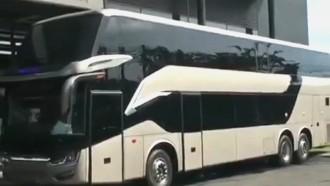Begini Penampilan Bus Tingkat Bangladesh Buatan Indonesia