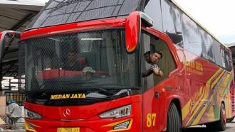 Bus Baru Medan Jaya Berbodi Avante H8, Langsung Pasang Tameng