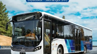 Hari Ini Bus Scania Lower Deck, Mengaspal Perdana di Bandung