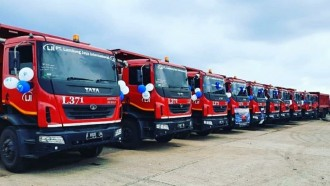 Sejumlah 30 Unit Dump Truck Tata Prima Dipesan Perusahaan Cirebon