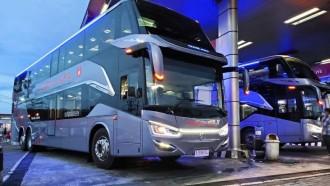Bus Tingkat PO Murni Jaya Jadi Perhatian di Jogjakarta
