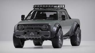 Alpha Motor Tampilkan Superwolf Crew Cab dan aksesorinya