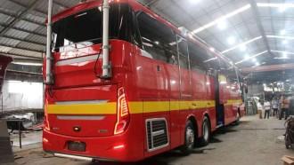 Bandara Kualanamu Juga Miliki Mobile Command Post, Pakai Sasis Scania K410IB