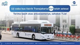 Uji Coba Bus Listrik Gratis Transjakarta Berakhir