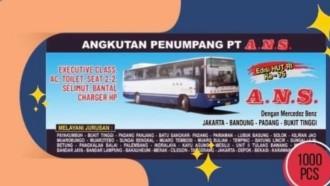 Rayakan Kemerdekaan RI, PO ANS Rilis Tiket Bergaya Jadul