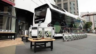 Seperti Ini Bus Stasiun Listrik Kolaborasi Honda dan Toyota