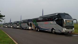 PO SAN Putra Sejahtera Operasikan 5 Armada Baru Kelas Premium Ekonomi Trayek Riau-Jawa Timur