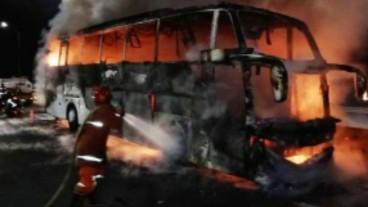 Lagi, Kasus Bus Terbakar Kini Milik PO Sinar Jaya