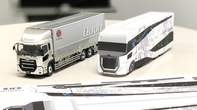Papercraft UD Trucks Quon Concept 202X Bikin Anak Makin Kreatif