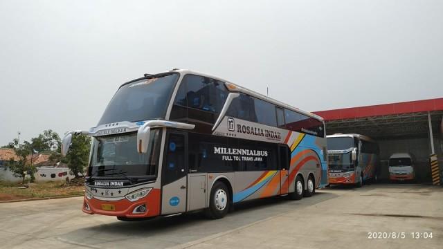 Po Rosalia Indah Rombak Leg Rest Di Bus Double Decker Bus And Truck Indonesia