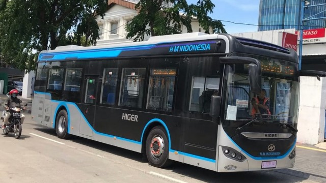 Bus Listrik Tiongkok Higer, Incar Jadi Armada Transjakarta