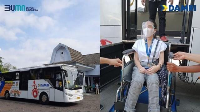Damri Resmi Operasikan Bus Ramah Disabilitas