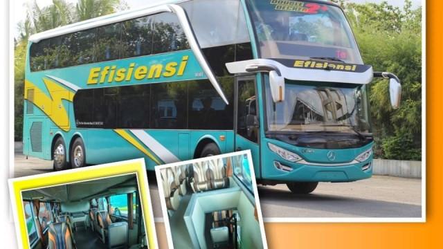 Simak Jadwal Pemberangkatan Dan Ongkos Bus Tingkat PO Efisiensi