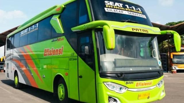 PO Efisiensi Siapkan Bus Social Distancing Rute Semarang-Cilacap