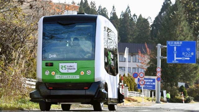 Jepang Ujicoba Bus Robot Shuttle Tanpa Awak untuk Persiapan Olimpiade 2020