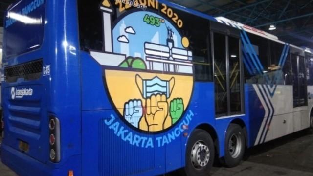 Rayakan Ultah Ibukota Transjakarta Kedatangan Bus Baru, Bernuansa New Normal