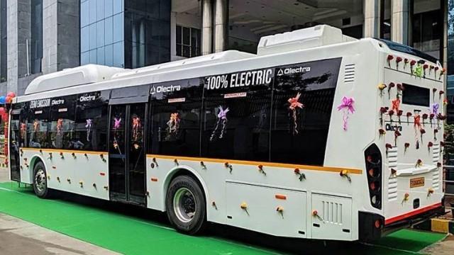 Kota Bengaluru India Mulai Coba Bus Kota Listrik