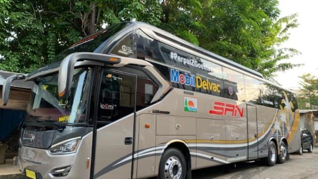 Bus Tronton PO SAN Ini Siap Keliling Sumatra, Ada Misi Apa?