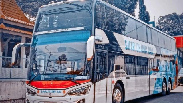 Bus Tingkat PO Safari Dharma Raya Kini Layani Rute Jogja-Jakarta