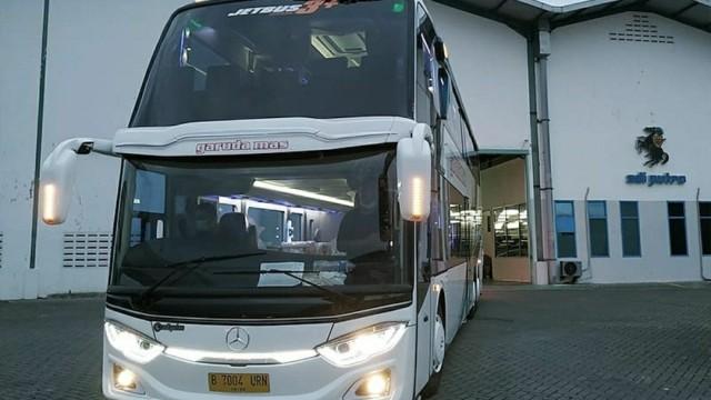 Tengok Detail Bus Tingkat Baru PO Garuda Mas, Ada TV Tiap Joknya