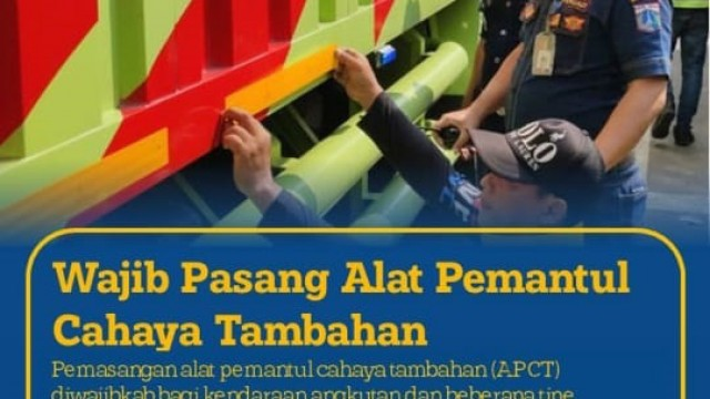 Dishub DKI Jakarta Wajibkan Pasang Stiker Reflektor