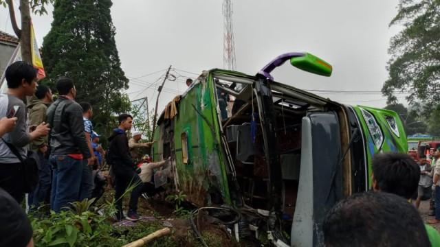 Daftar Lengkap Korban Kecelakaan Bus PO Purnama Sari Di Subang