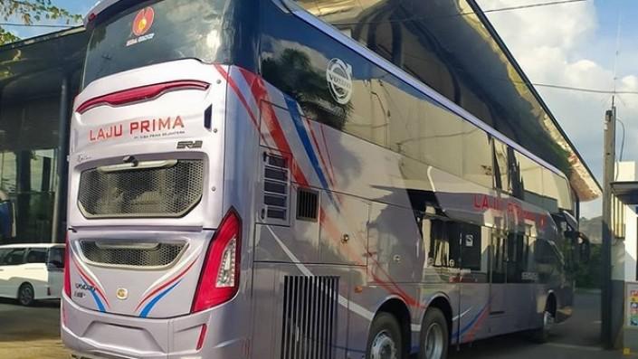 Bus Tingkat PO Laju Prima Mulai Tes Jalan, Pakai Bodi Ekspor