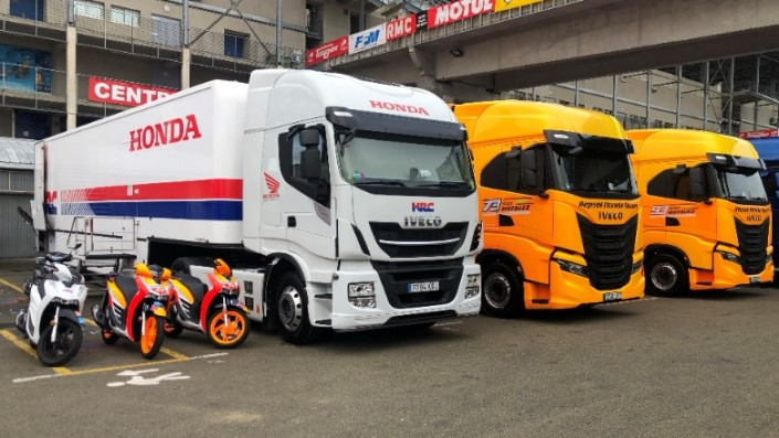 Gagah, Tampang Truk Tim Repsol Honda di Sirkuit Le Mans